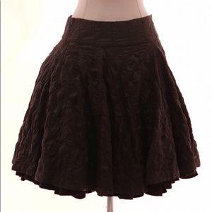 Eggplant Black All Saints Silk Skirt NWT